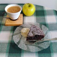 kladdkaka coffee apple