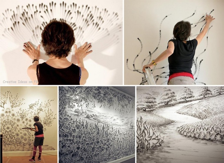 Finger Drawings Art by Artist Judith Braun