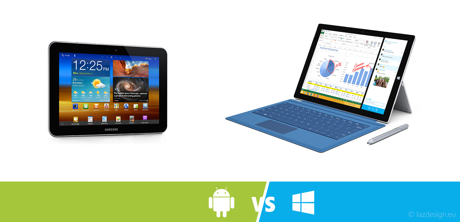 android and windows tablets