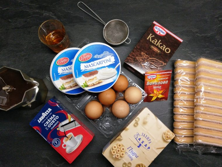 продукти за тирамису